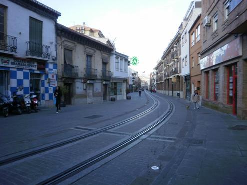 Calle Real en Armilla- Metro Ligero de Granada
