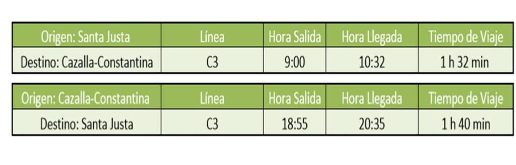 Recordad que los trenes de Renfe Cercanías sólo circulan en este horario sábados, domingos y festivos.
