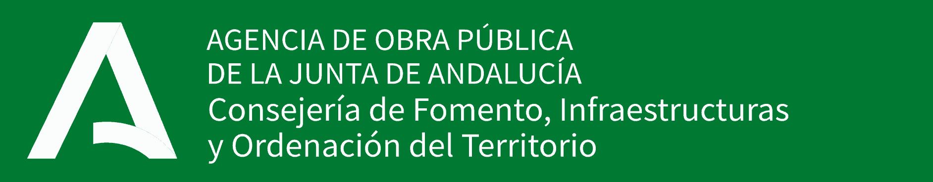 logo de la Agencia de Obra Pública de la Junta de Andalucía